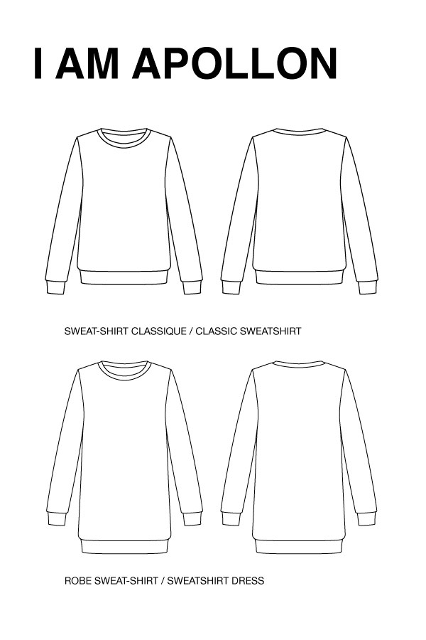 I AM Patterns Apollon Femmes Sweat Shirt Robe