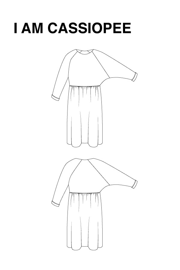 I AM Patterns - Sewing Pattern Cassiopee Dress technical drawing