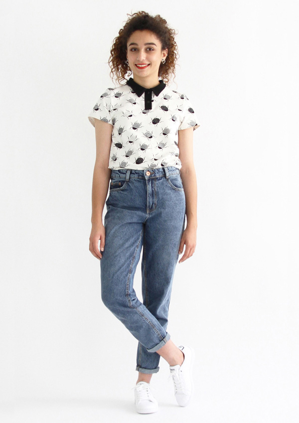 I AM Patterns - ladies sewing patterns - Chouette polo shirt bodysuit