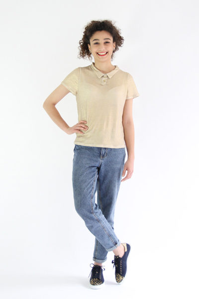 I AM Patterns - Sewing pattern - Chouette Polo Body - Front 3
