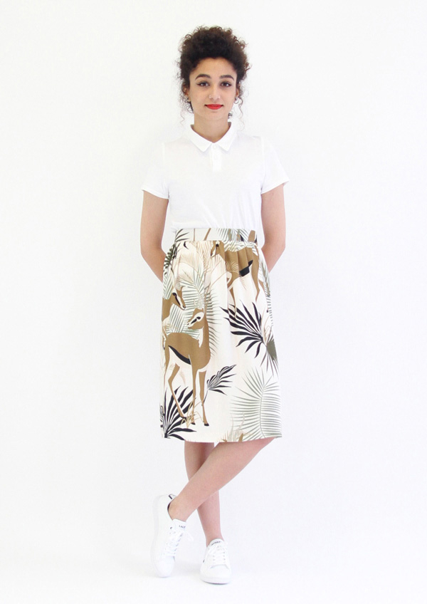 I AM Patterns Chouette I AM Patterns Patron Couture Femmes Haut Polo Duo Victoria Wild