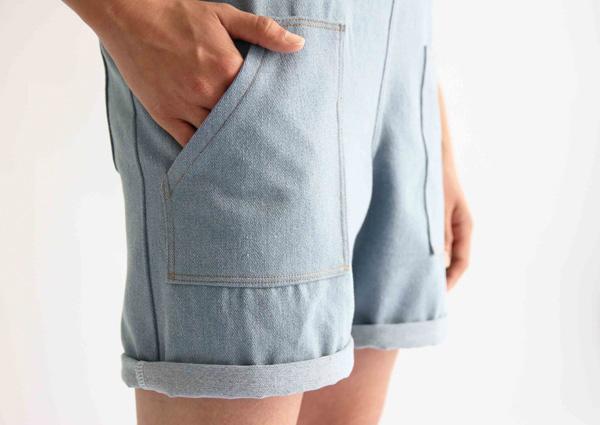 I AM Patterns Colibri I AM Patterns Patron Couture Femmes Salopette Colibri Short Detail Poche Devant