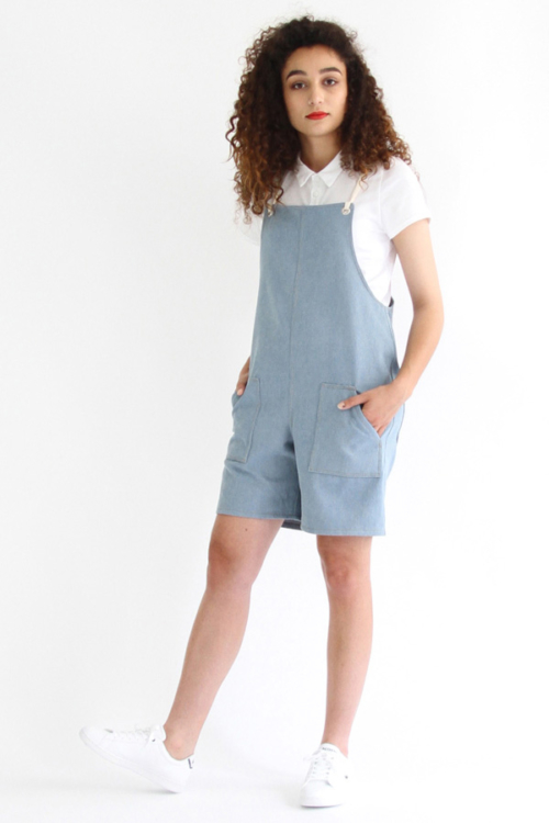 I AM Patterns - Sewing pattern Colibri dungarees women - Short angle