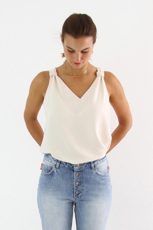 I AM Patterns Patron Couture Gaia Debardeur simple devant zoom