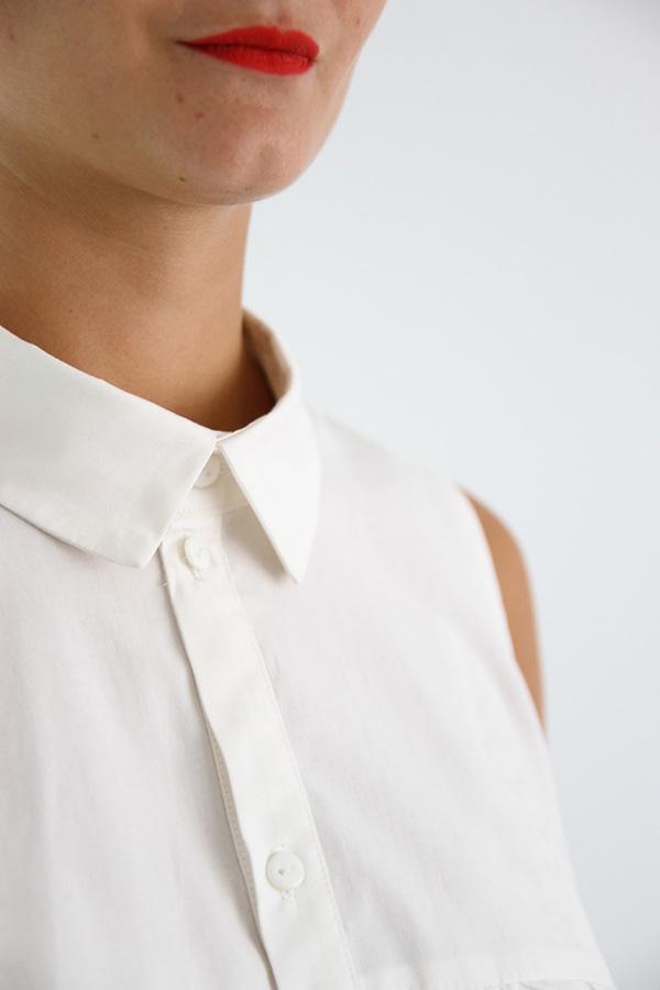 I AM Patterns - Sewing pattern - Ruffles top Magdala - detail collar zoom