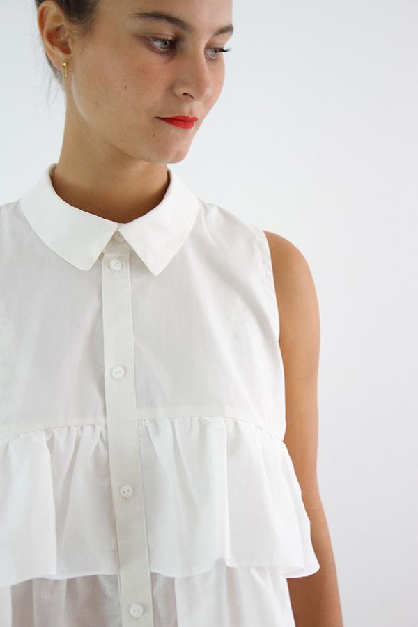 I AM Patterns - Sewing pattern - Ruffles top Magdala - detail collar
