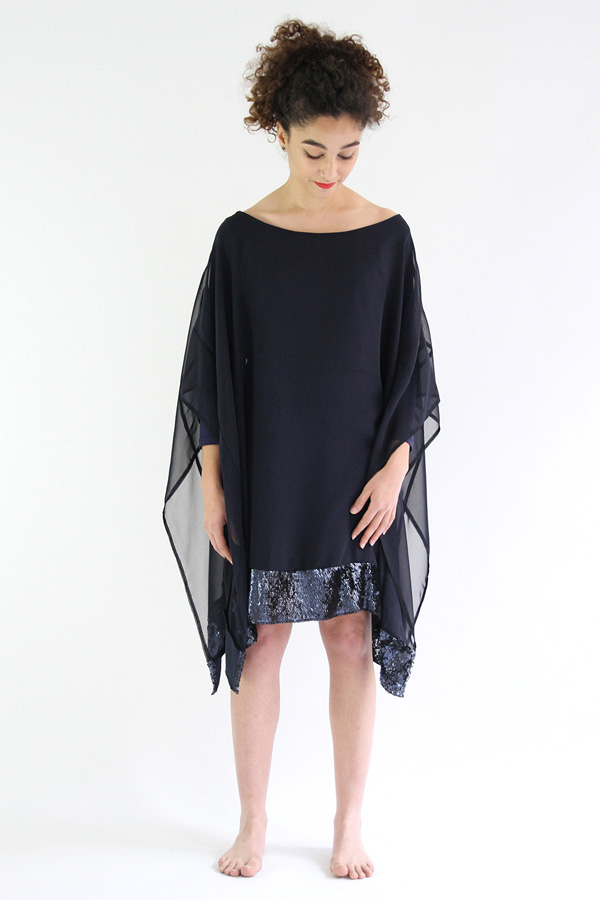 I AM Patterns Panthere Robe Occasion Fete Sequin devant