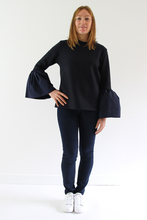 I AM Patterns - Women sewing pattern - Patricia bell sleeves sweater