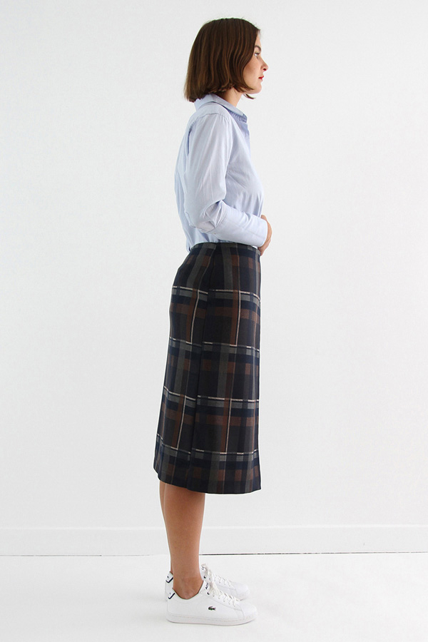 I AM Patterns - Sewing pattern Perrine Wrap skirt - long profile