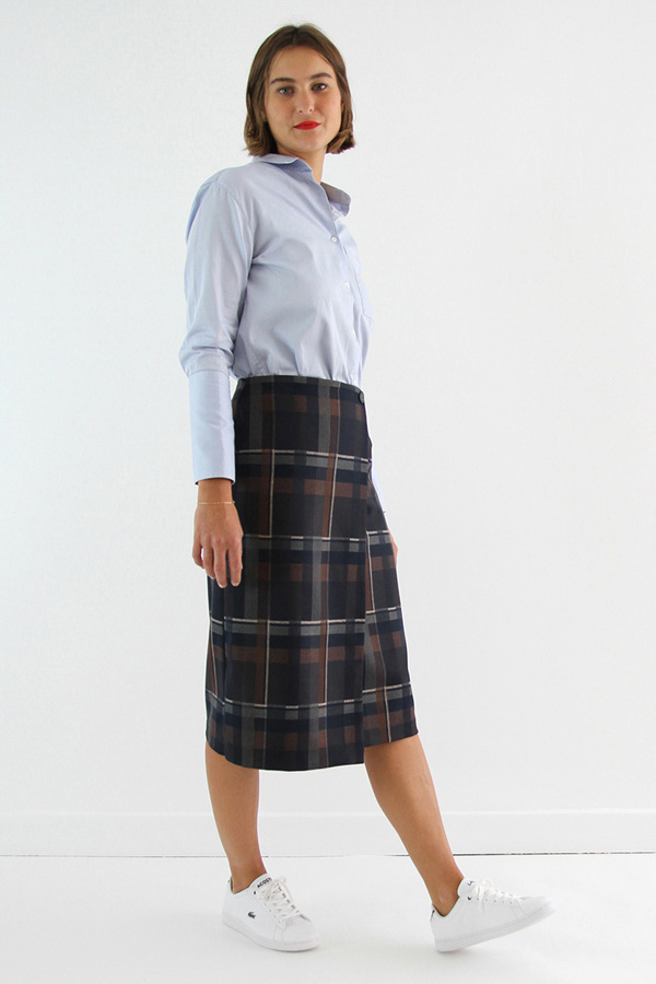 I AM Patterns - Sewing pattern Perrine Wrap skirt - long angle