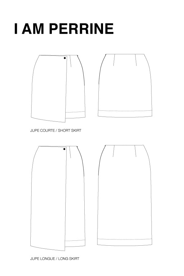 I AM Patterns - Sewing pattern Perrine Wrap skirt - technical support