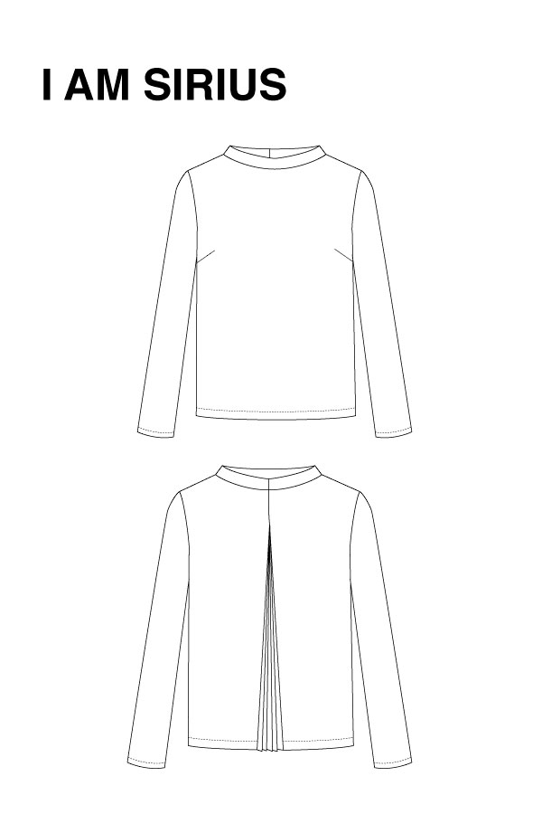 I AM Patterns - Sewing pattern Sirius Jumper - technical drawing
