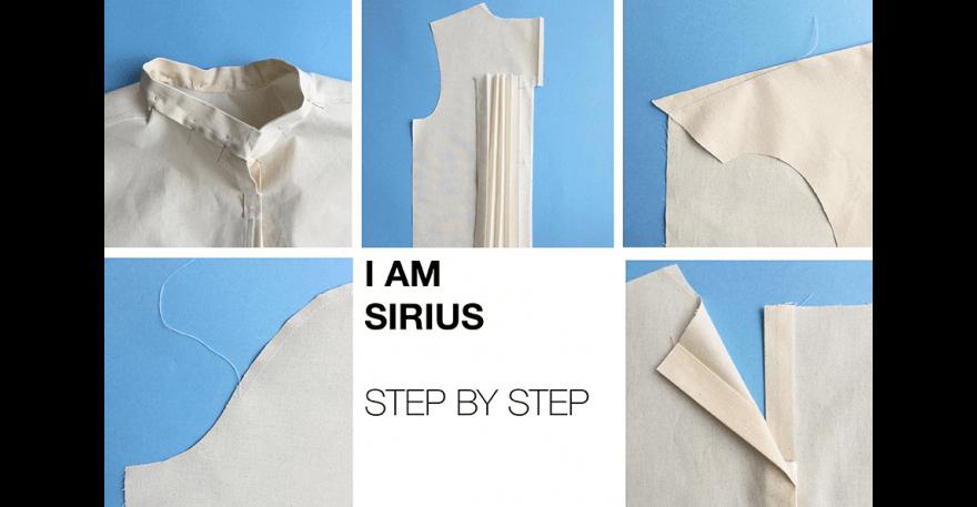 I AM Patterns pas a pas patron couture pull dos plissé Sirius