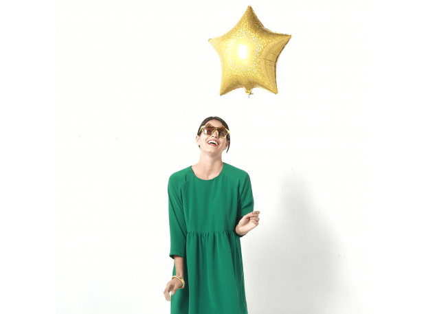 I AM Patterns win a sewing pattern of the boxy dress with gathers Cassiopee competition