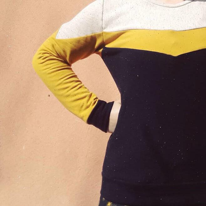 I AM Patterns sewing pattern Apollon sweatshirt men women pattern hack geometric blocks banner