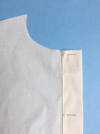 I AM Patterns pas-à-pas patron couture chemise robe Libellule Etape 5B