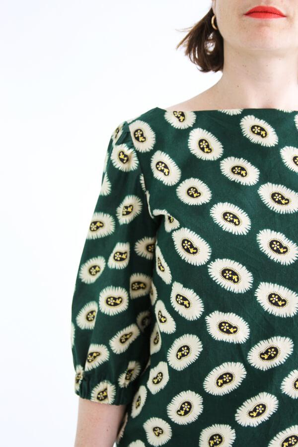 I AM Patterns - patron de couture blouse Joy detail côté