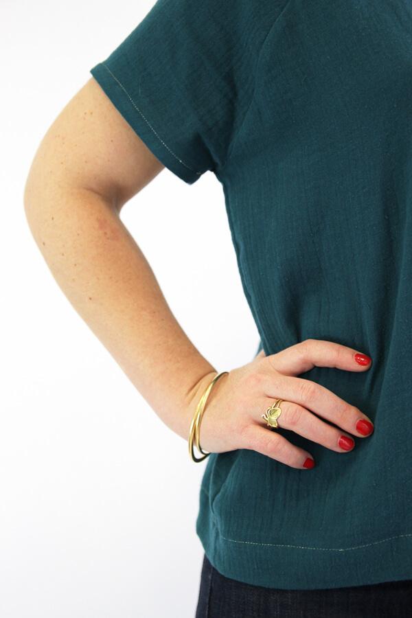 I AM Patterns - patron couture blouse robe Jain verte details manches