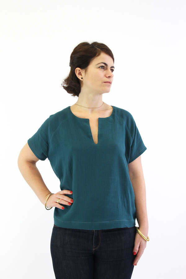 I AM Patterns - patron couture blouse robe Jain verte devant