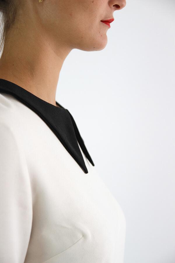 I AM Patterns - patron de couture chemisier Luna patte de boutonnage dos detail col