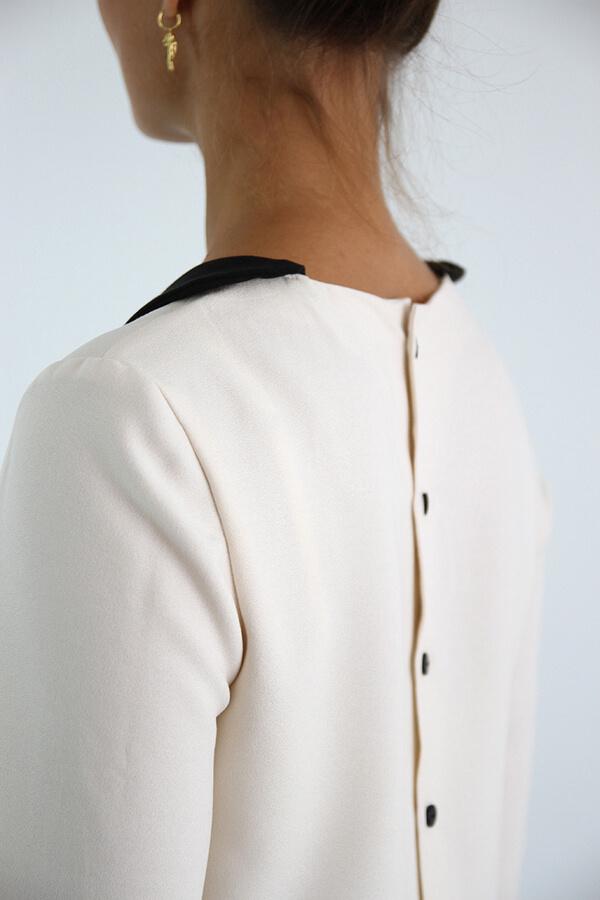 I AM Patterns - patron de couture chemisier Luna patte de boutonnage dos détail dos