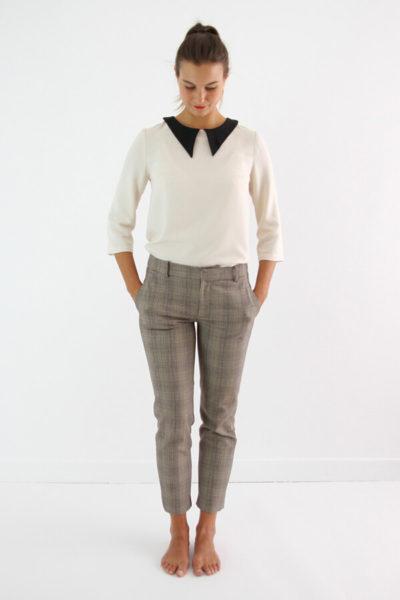 I AM Patterns - patron de couture chemisier Luna patte de boutonnage dos vue devant