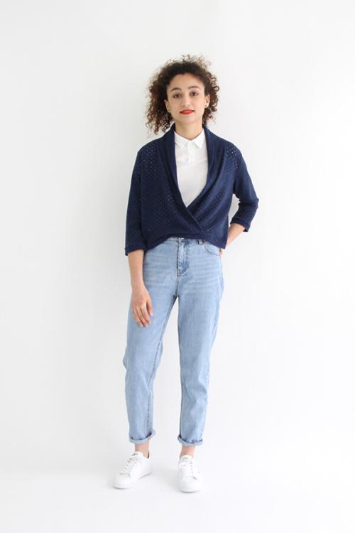I AM Patterns - Sewing pattern Cupidon cardigan - front