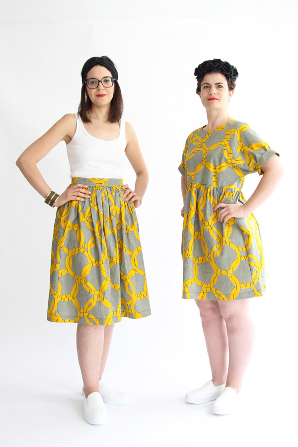 I AM Patterns Patron Couture Femmes Robe Cassiopee Manches Courtes Duo Hestia