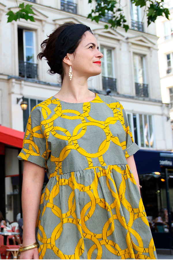 I AM Patterns Patron Couture Femmes Robe Cassiopee Manches Courtes Duo Hestia Rue 2