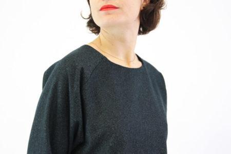 I AM Patterns patron de couture Cassiopée robe froncée à la taille et manches chauve-souris