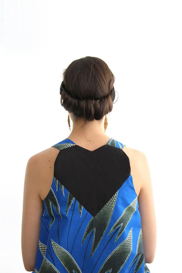 I AM Patterns - patron de couture blouse et robe Celeste Coeur dans le dos - dos