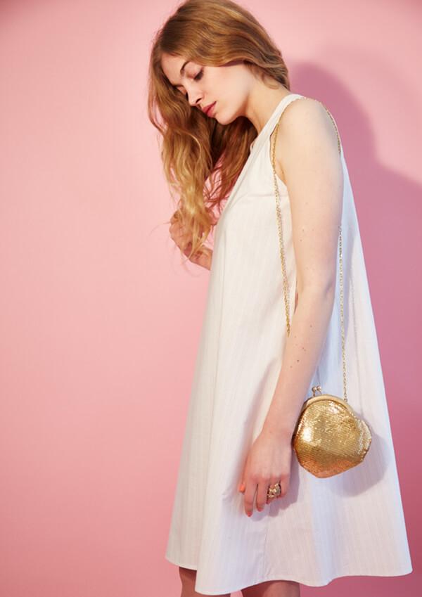 I AM Patterns - patron de couture blouse et robe Celeste Coeur dans le dos coté