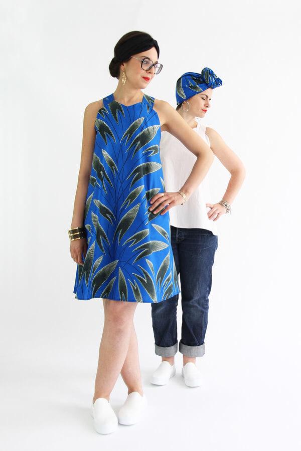 I AM Patterns - patron de couture blouse et robe Celeste Coeur dans le dos 2 versions