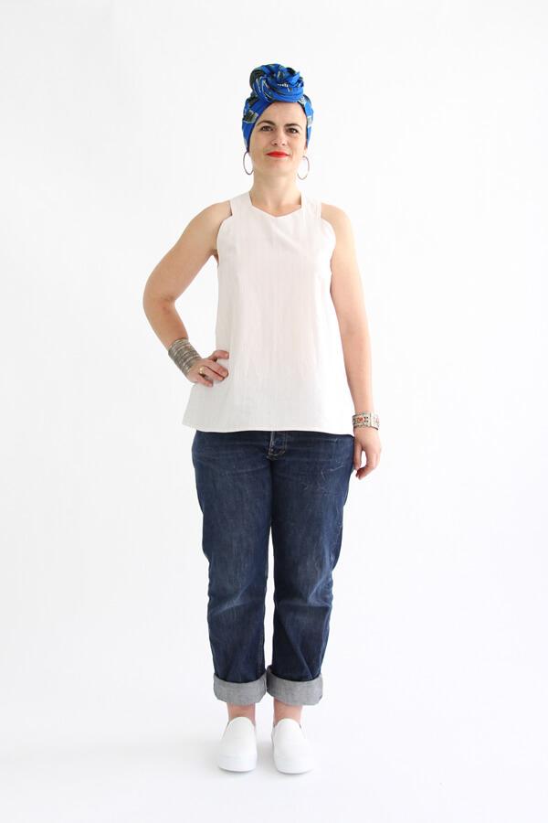 I AM Patterns - patron de couture blouse et robe Celeste Coeur dans le dos devant haut