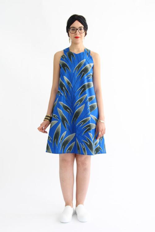 I AM Patterns - patron de couture blouse et robe Celeste Coeur dans le dos - devant
