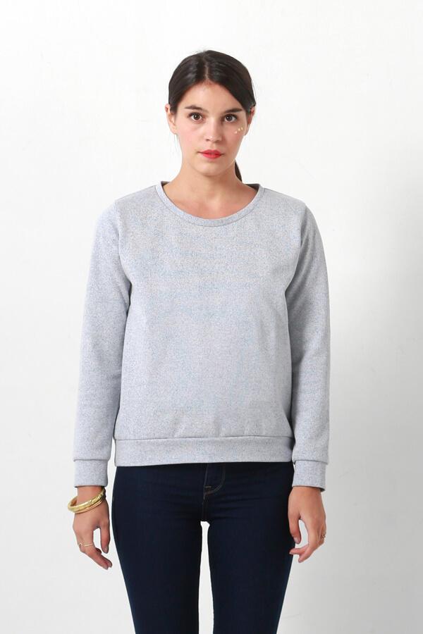 I AM Apollon sweatshirt gris de face