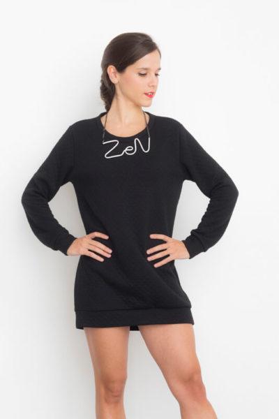 I AM Apollon robe sweatshirt noire de face