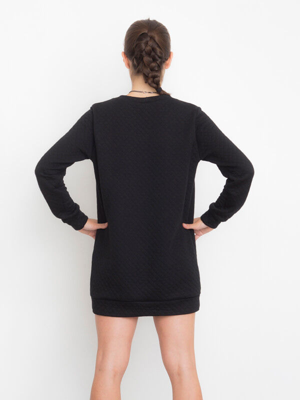 I AM Apollon robe sweatshirt noire de dos