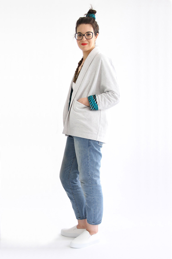 I AM Patterns - Sewing pattern Artemis lined jacket extension - profile