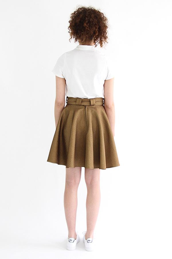 I AM Patterns - Sewing pattern Felicie gold skater skirt - back
