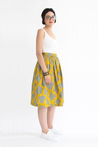 I AM Patterns patron couture jupe plissée hestia longue wax