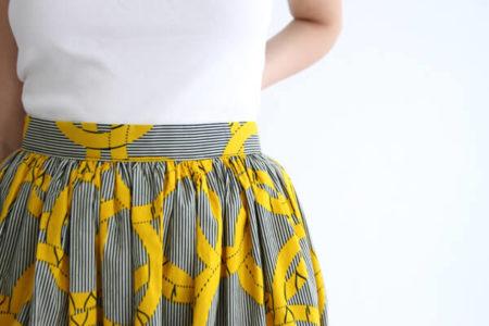 I AM Patterns - Patron couture jupe plissée simple en wax detail ceinture