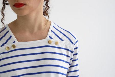 I AM Patterns - patron de couture - marnière T-Shirt robe Osiris - détail encolure