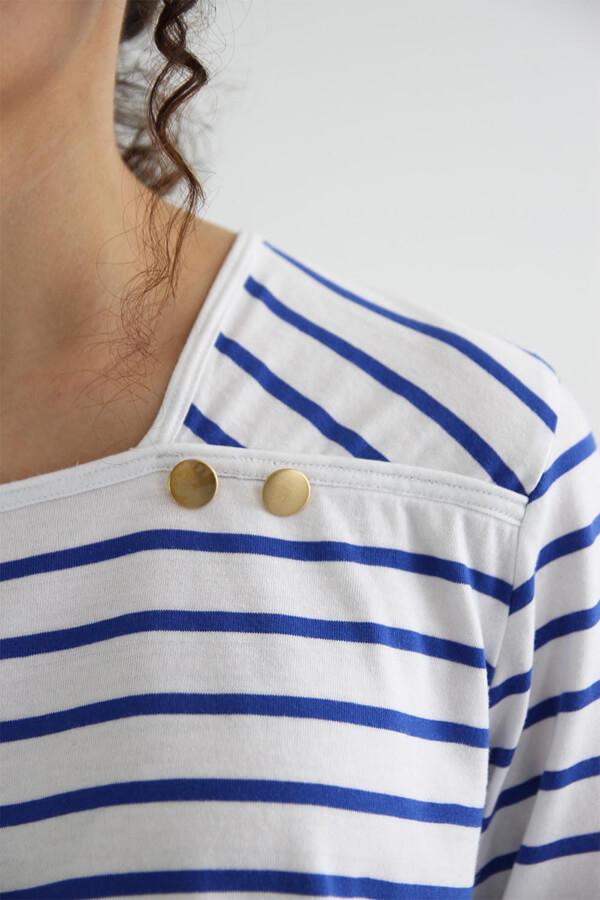 I AM Patterns - patron de couture - marnière T-Shirt robe Osiris - détail col