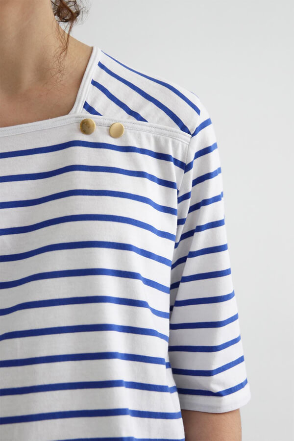 I AM Patterns - Sewing pattern Osiris sailor shirt - detail neckline 2