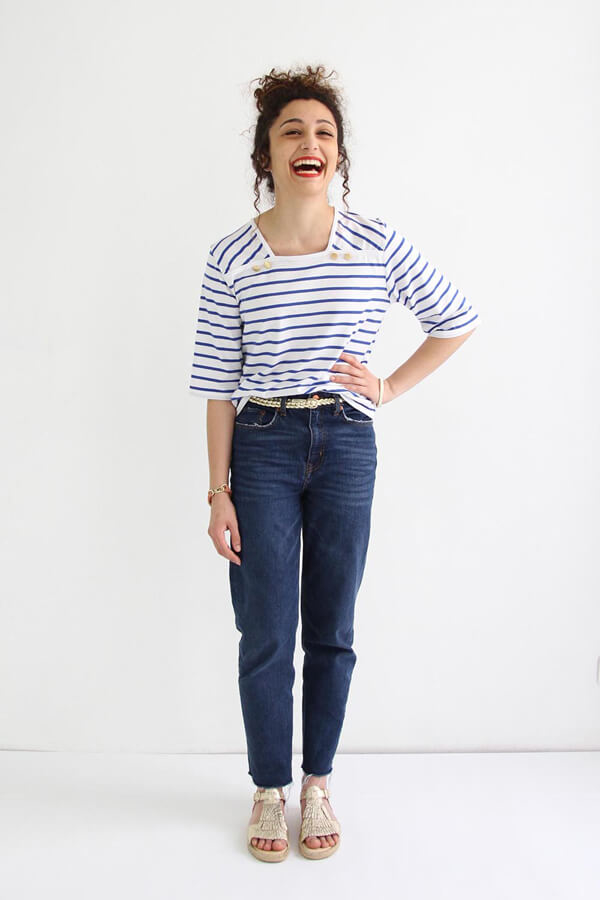 I AM Patterns - patron de couture - marnière T-Shirt robe Osiris - sourire