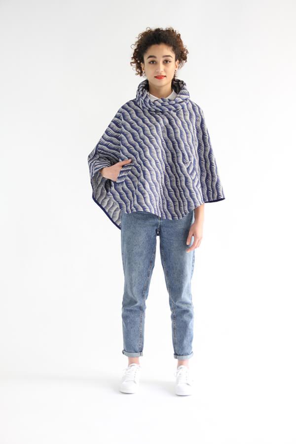 I AM Patterns - Patron de couture Cape Mimosa tissu Henry Henriette