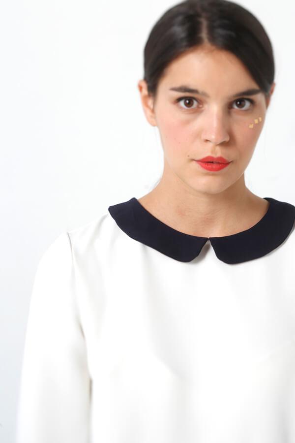 I AM Patterns patron de couture Orion Robe Chemisier robe détail col
