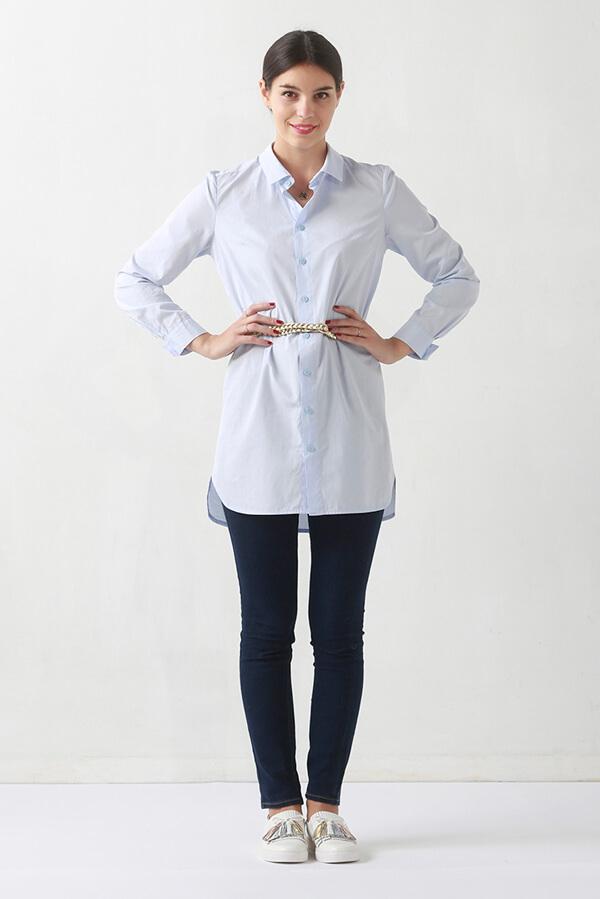 I AM Hermes patron de couture chemise femmes devant