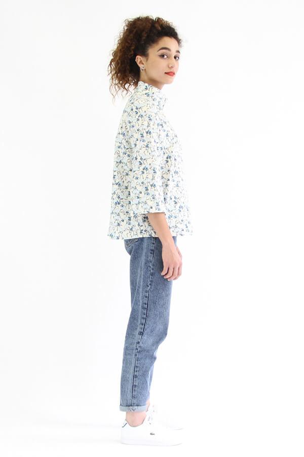 I AM Patterns - patron de couture chemise robe Libellule - chemise fleurie profil